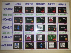 horario visual